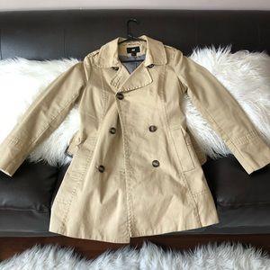 Khaki trench coat